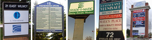 outdoor pylon commercial signs