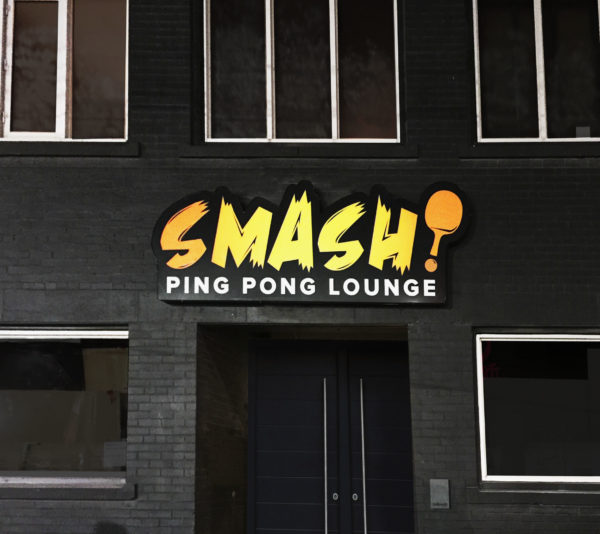 SMASH Ping Pong Lounge Outdoor Signs
