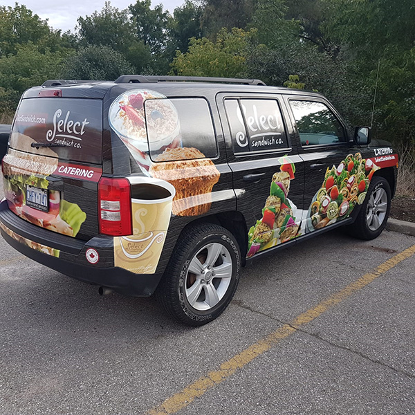 Select catering Vehicle wrap