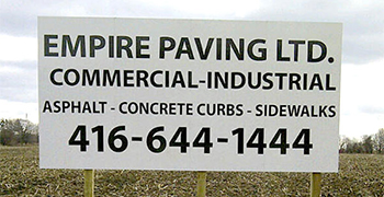 Commercial Ground Sign