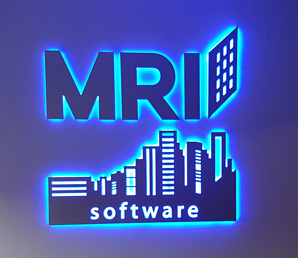 Custom LED Interior Lobby Sign for MRI Software