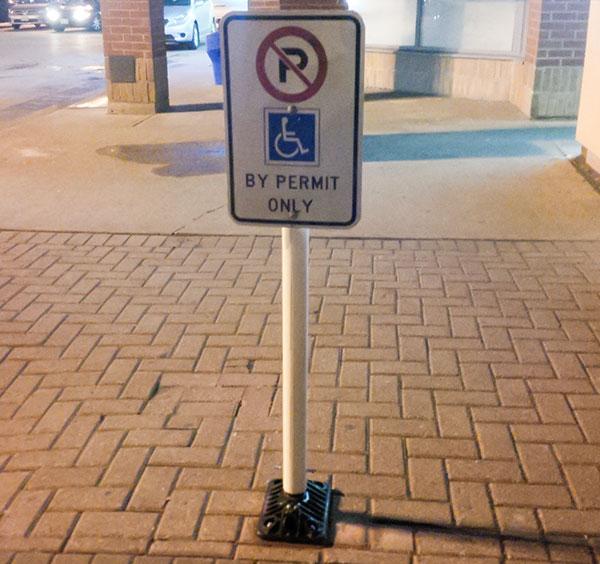Flexible Post handicap parking sign