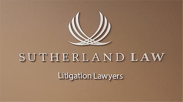 Sutherland Law Lobby Signs
