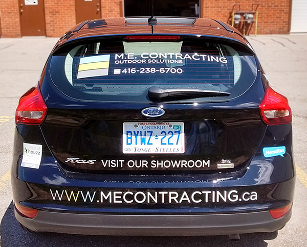 ME contracting vehicle wrap rear view