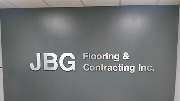 JBG Flooring Lobby Signs