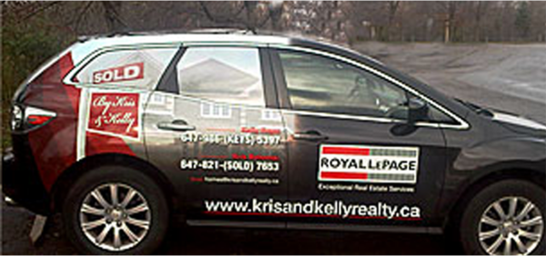 Royal lepage car wraps