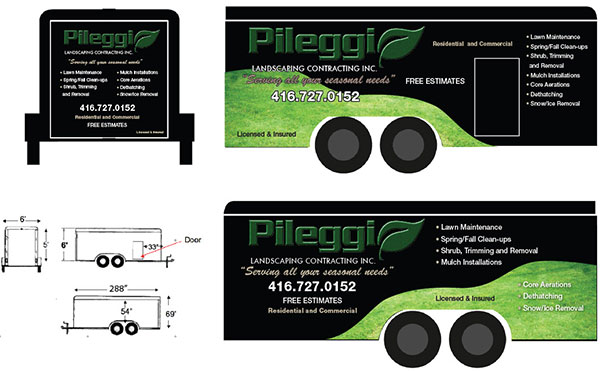 cargo trailer advertising design layout for wrap