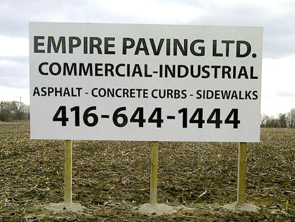 commercial ground sign toronto