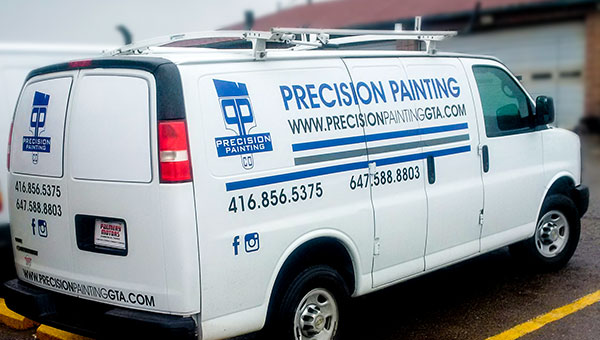 commercial van with vinyl advertising wrap toronto gta