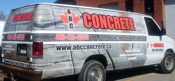 full vinyl wrapped commercial van