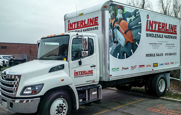 large box truck with vinyl wrap toronto