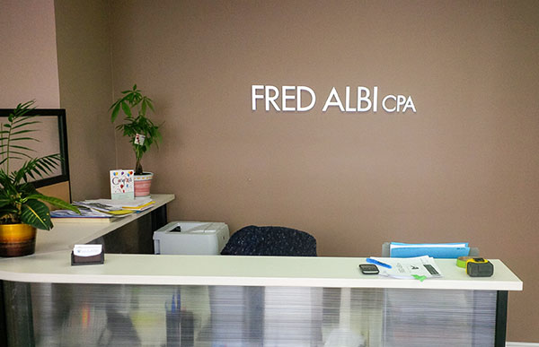 office logo sign for reception