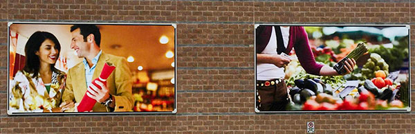 outdoor commercial wall banner sign Brantford Mall