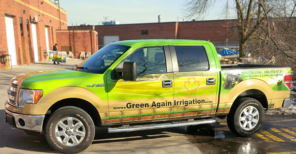 vinyl wrap for a pick up truck