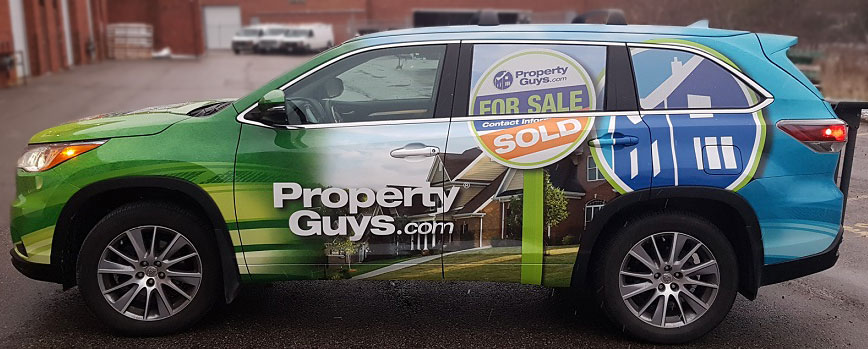 Vehicle Wraps with Curb Appeal for Property Guys