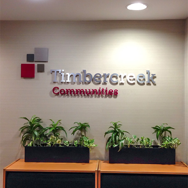 reception sign for toronto office