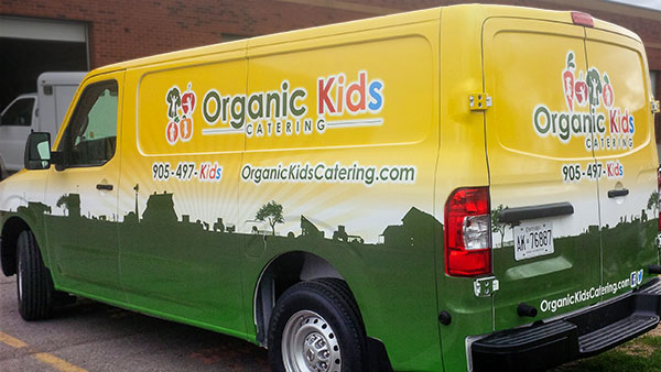 van vinyl wrapped for york region business