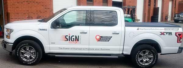 vinyl advertising wrap for pickup truck in vaughan