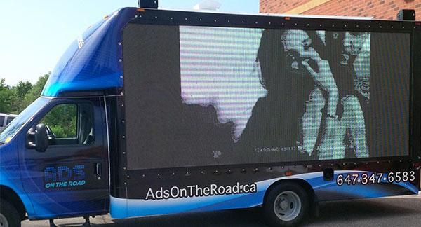 vinyl wrap for LED screen truck