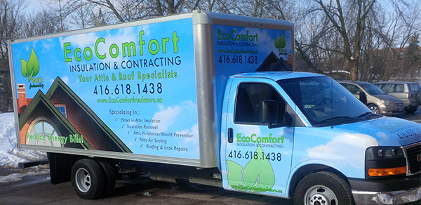 vinyl wrapped truck in Toronto