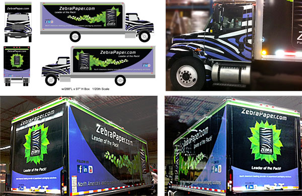 Tractor Trailer Truck Wrap